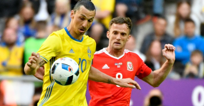 Andy King: Challenges Zlatan Ibrahimovic in friendly defeat