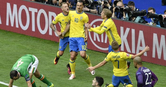 Zlatan Ibrahimovic Republic of Ireland v Sweden