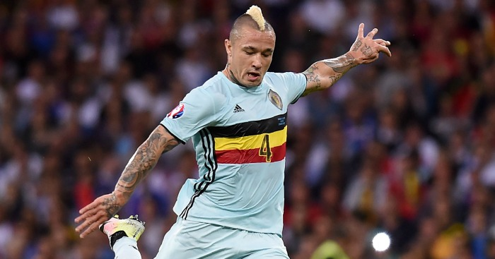 Radja Nainggolan: Midfielder in action at Euro 2016
