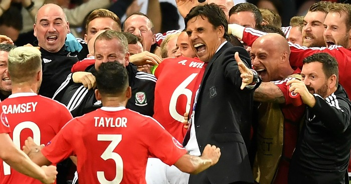 Chris Coleman: Celebrates Ashley Williams' leveller