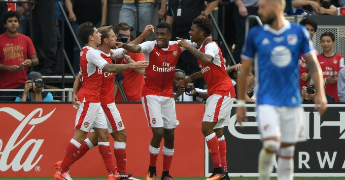 Arsenal: elebrate their late winner