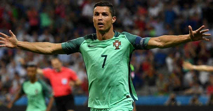 Cristiano Ronaldo: Celebrates Portugal's opener