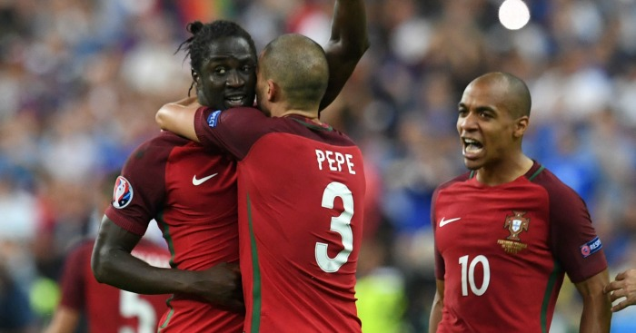 Eder: Celebrates his winner with Pepe