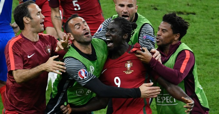Eder: Striker celebrates winning goal in extra-time