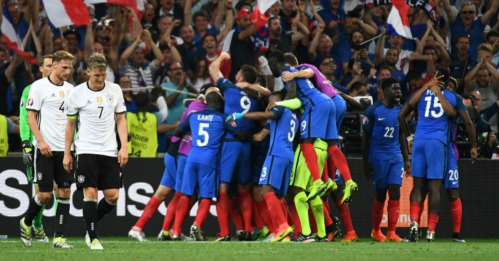 Agony & ecstacy: France celebrate as Germany look dejected