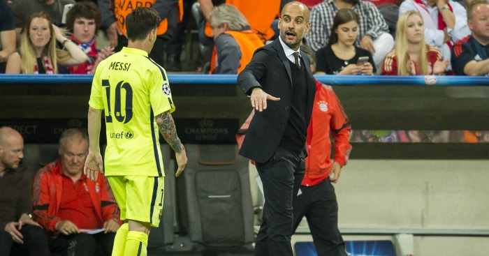 Pep Guardiola: Manager coached Messi for four years