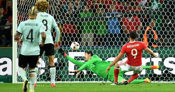 Hal Robson Kanu scores Wales v Belgium