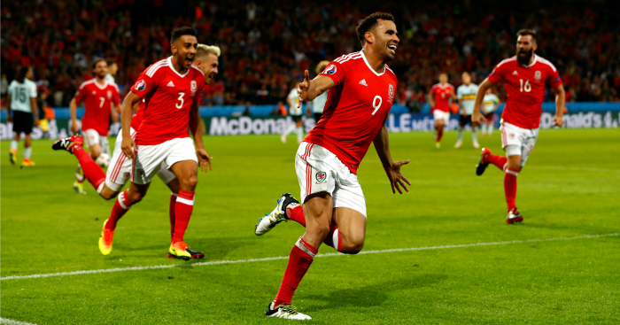 Hal Robson-Kanu: Forward celebrates winning goal
