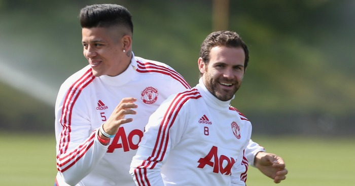 Marcos Rojo, Juan Mata: Tipped to move to Spain