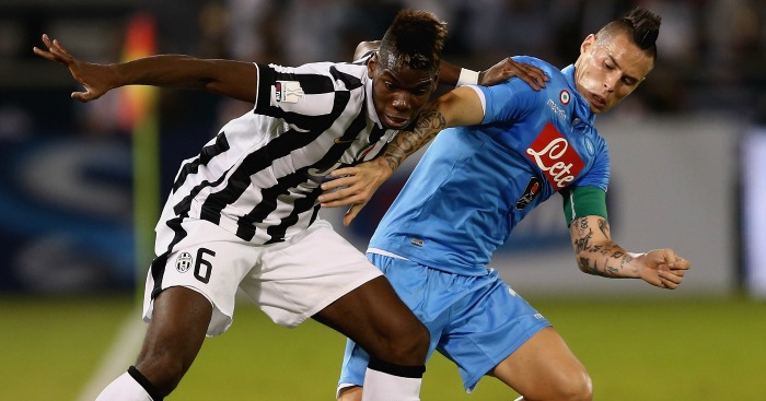 Paul Pogba: Tussles with Marek Hamsik