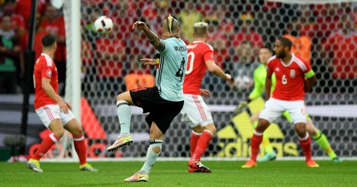 Radja Nianggolan scores Wales v Belgium