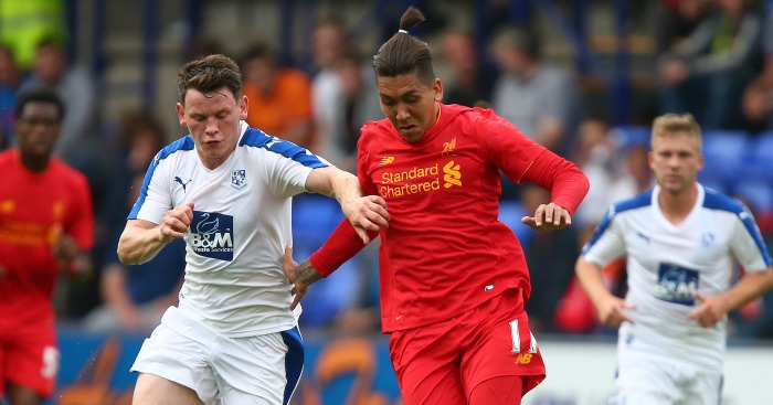 Roberto Firmino: In action at Tranmere