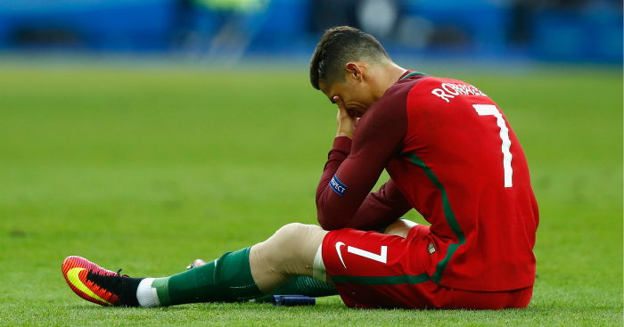 Cristiano Ronaldo: Final ended by injury