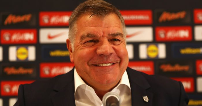 Sam Allardyce: Names first England side