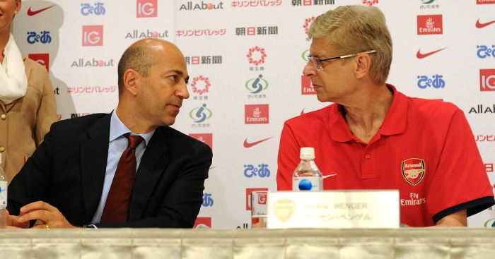 Ivan Gazidis (l): Reveals pressure at Arsenal