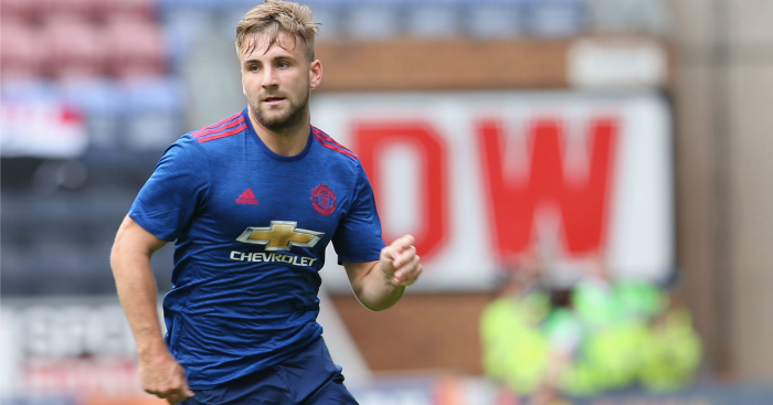 Luke Shaw: Returned to action in friendly