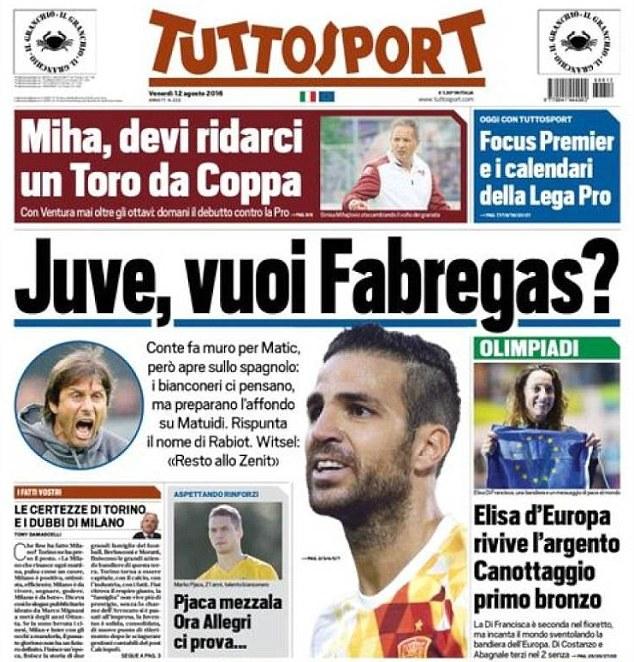 Tuttosport: Fabrgeas to Juventus?