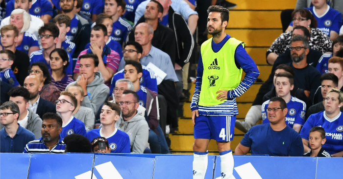 Cesc Fabregas: Midfielder out of favour at Chelsea