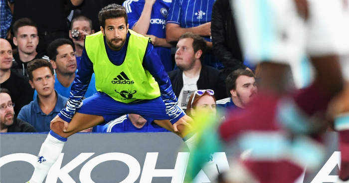 Cesc Fabregas: Left out of Chelsea side