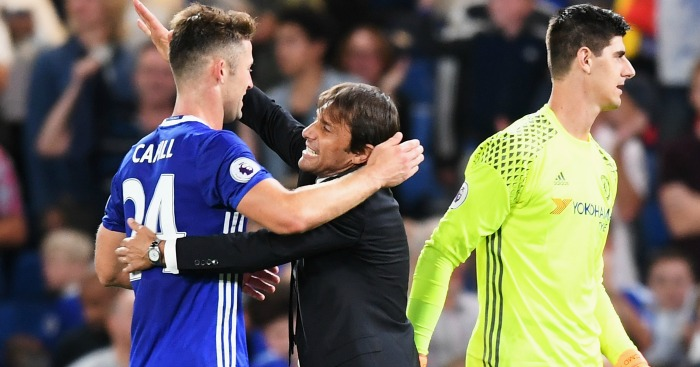 Gary Cahill: Enjoys playing under Antonio Conte