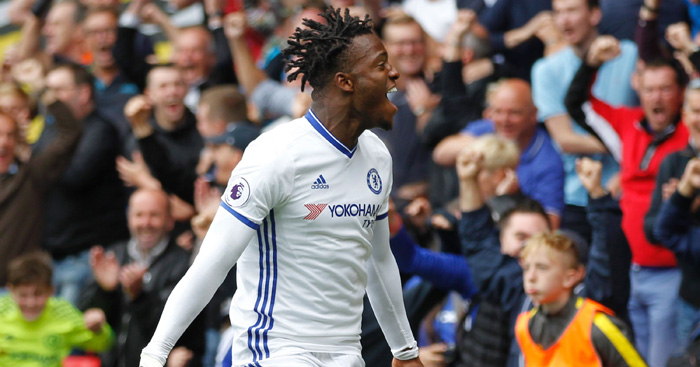 Michy Batshuayi: Celebrates first Chelsea goal