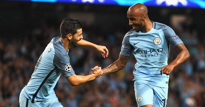 Fabian Delph: On the scoresheet in City stroll