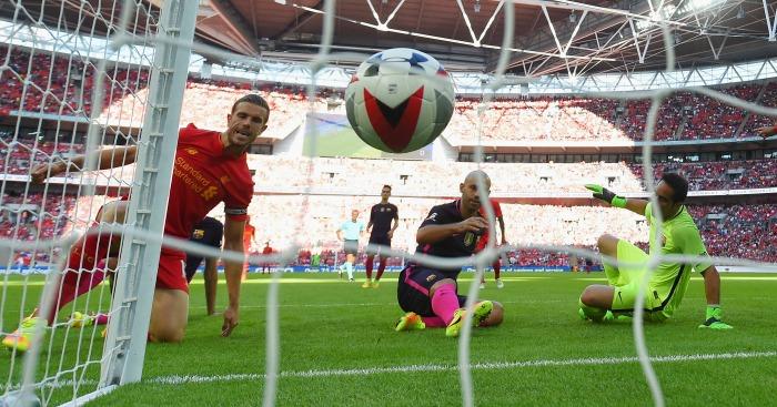 Javier Mascherano own goal Liverpool v Barcelona