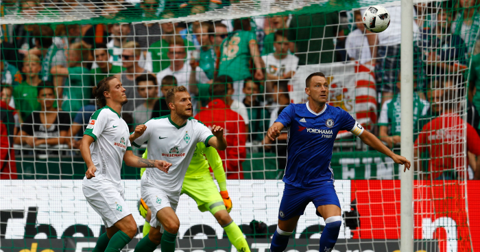 John Terry: Defender in action against Werder Bremen