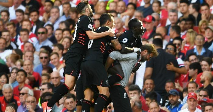 Jurgen Klopp: Gives Sadio Mane a piggyback