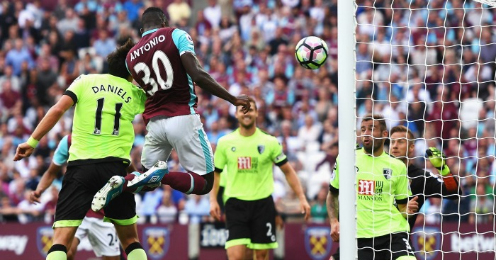 Michail Antonio scores West Ham v Bournemouth
