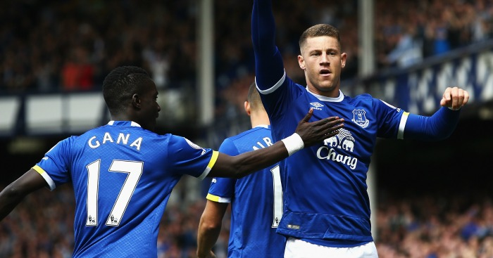 Ross Barkley: Celebrates Everton's opener