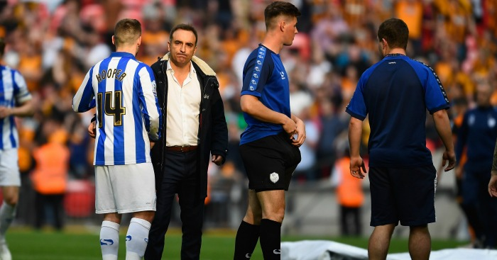 during the Sky Bet Championship Play Off Final between Hull City and Sheffield Wednesday at Wembley Stadium on May 28, 2016 in London, England.