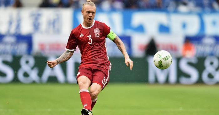 Simon Kjaer: Defender in action for Denmark