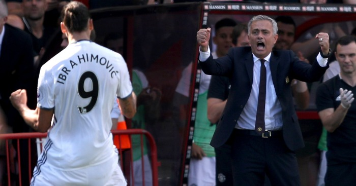 Jose Mourinho: Enjoys Zlatan's first Premier League goal