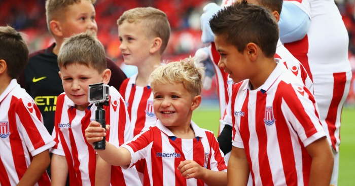 Young Stoke fans: Pose with a Go-Pro