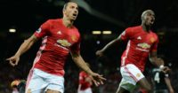 Zlatan Ibrahimovich: Celebrates with Paul Pogba