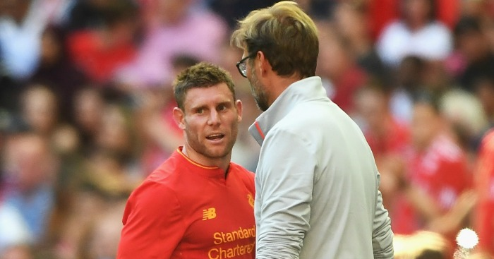 James Milner: Midfielder had to be substituted off with injury