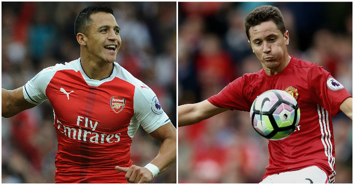 Alexis Sanchez, Ander Herrera: Positional switches