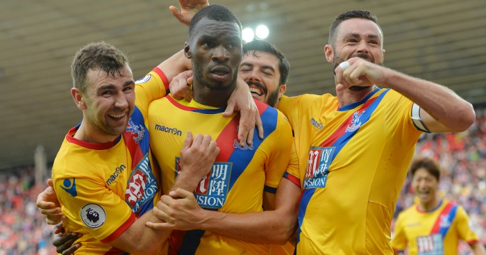 Christian Benteke: Mobbed after Palace's winner