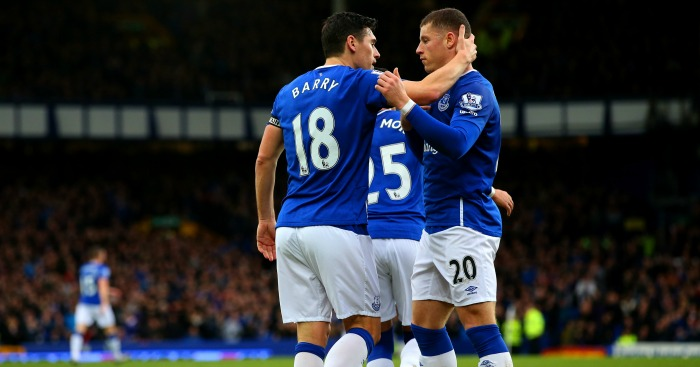 Gareth Barry & Ross Barkley: Everton team-mates