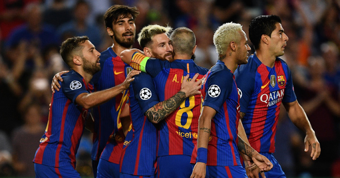 Barcelona: Helped themselves to seven against Celtic