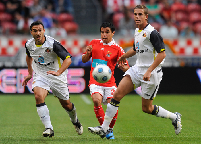 IMPRESSION: A young Jordan Henderson impresses against Benfica in the summer of 2009.