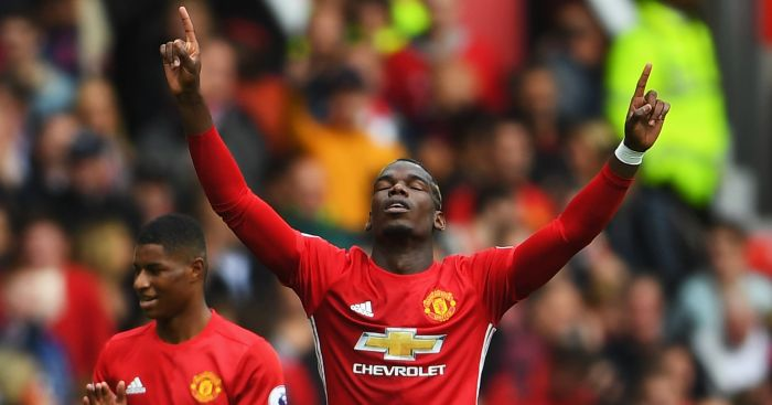 Paul Pogba: Scored the Red Devils' fourth goal
