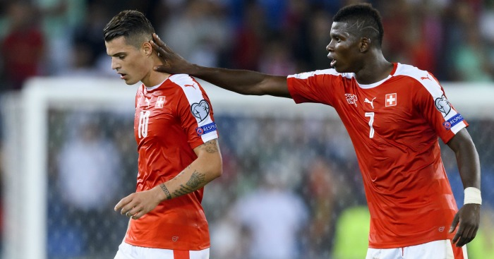 Granit Xhaka: Consoled by Breel Embolo