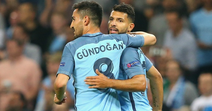 Gundundogan and Aguero: impressed on Wednesday