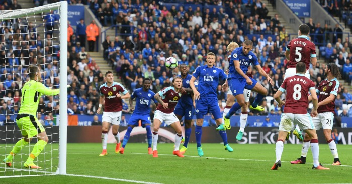 Islam Slimani scores Leicester