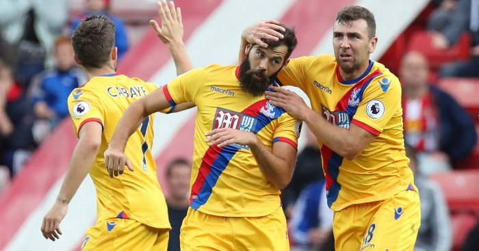 Joe Ledley: Celebrates with fellow scorer James McArthur
