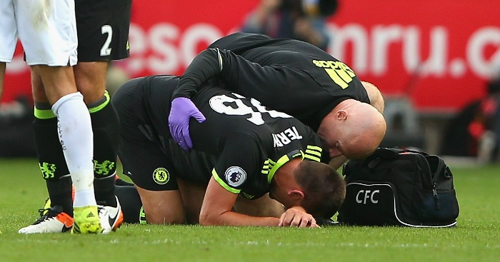 John Terry: Defender injured late on at Swansea