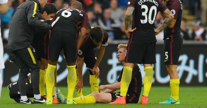 Kevin De Bruyne: Facing a spell on the sidelines
