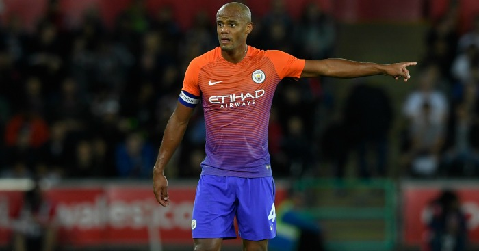 Vincent Kompany: Injured at Swansea